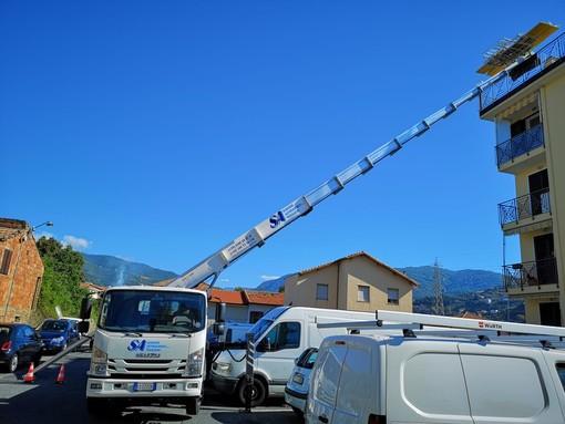 Sanremo Autotrasporti amplia il parco mezzi: è in arrivo una nuova autoscala per fare lavori a piccole e medie altezze