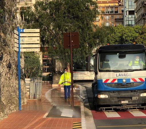 Dal Principato di Monaco: da oggi al via la sanificazione e disinfezione di marciapiedi, ascensori e scale mobili