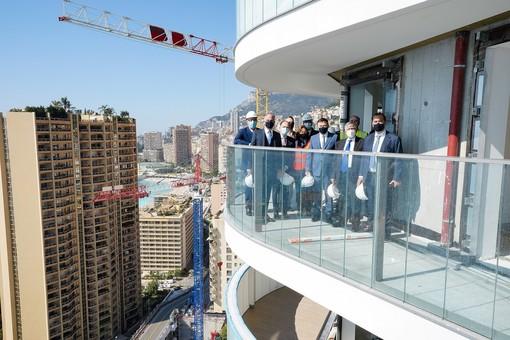 Testimonio II: il governo visita le torri che ospiteranno oltre 300 nuovi appartamenti per i monegaschi