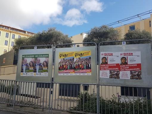 Tabelloni elettorali a Nizza (foto di archivio)