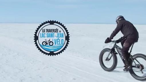 In bicicletta sul lago ghiacciato…pensando alla salute