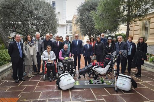 """E stato inaugurato il """"Tandem Ski"""", messo a disposizione dalla Federazione sciistica di Monaco"""