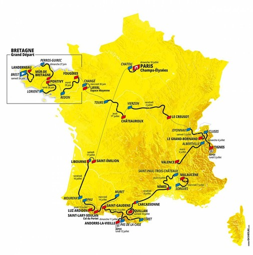 """Il Tour de France """"abbandona"""" la Costa Azzurra"""