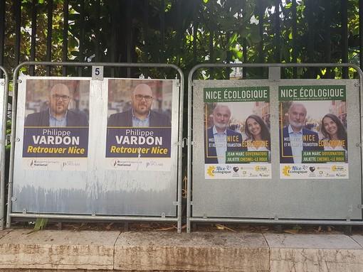 Tabelloni elettorali a Nizza