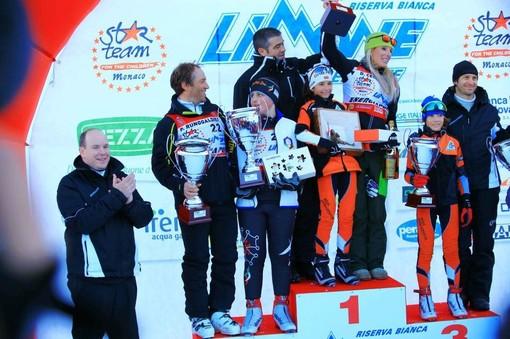 SAS il Principe Alberto ha partecipato a Limone Piemonte al 7° World Star Ski Event