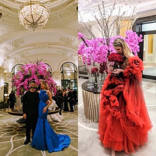 Principato di Monaco: amore ed  alta moda  al Gran Ballo dei Principi e delle Principesse. La cantante Ana Soklic indossa abiti da favola, realizzati dalla maison Jasha