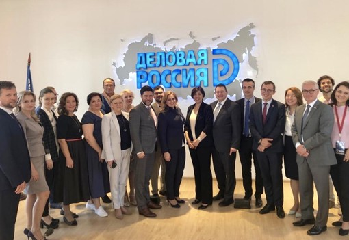 Réunion de travail à Business Russia Saint Petersburg avec son Président Dimitry Panov et ses Présidents de commission Innovation, Négoce international,  Tourisme et Construction ainsi que des régions voisines de Samara et Vladimir.