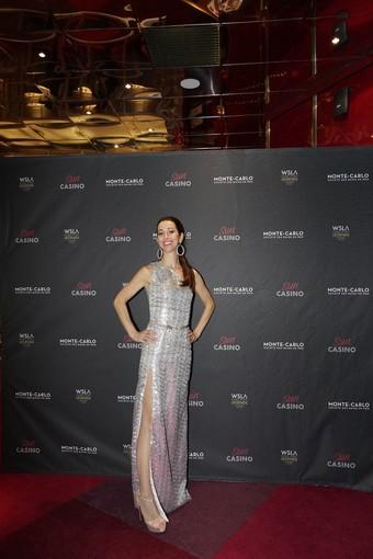 Il prezioso outfit di Fabiana Gabellini per Lorena Baricalla splende al Monaco WSLA