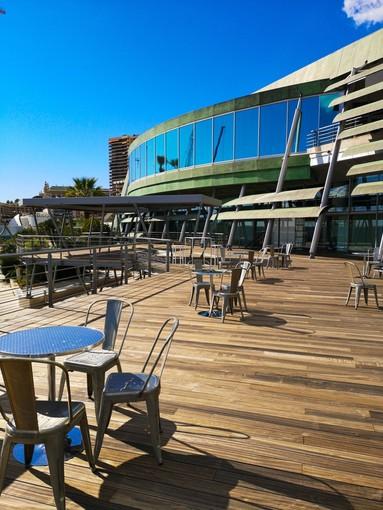 Il Grimaldi Forum di Monaco ha una nuova grande ed unica terrazza da 600 metri quadrati vista mare