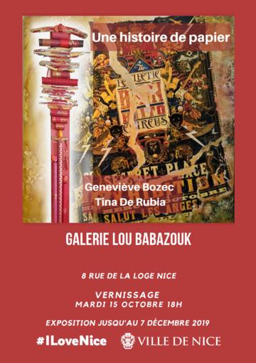 """""""Une histoire de papier"""" alla Galerie municipale Lou Babazouk"""