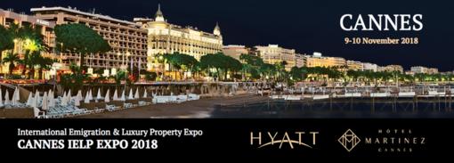 """Il 9 e 10 novembre giornate dedicate al mercato immobiliare più esclusivo al mondo: """"Cannes International Emigration and Luxury Property Expo 2018"""""""
