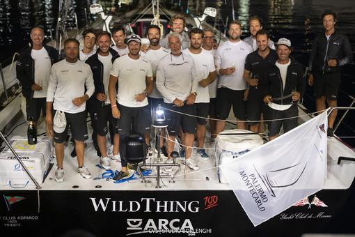 Maxi di 100' Arca SGR di Guido e Adalberto Miani con lo skipper Furio Benussi vincono la Palermo Montecarlo