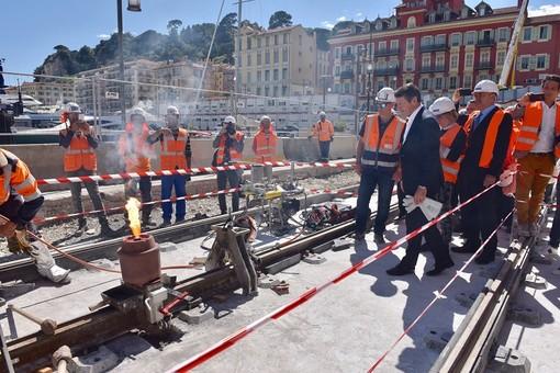 Nizza, il cantiere del tram al porto
